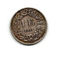 1 Franc Suisse 1911 -  Argent - Suiza