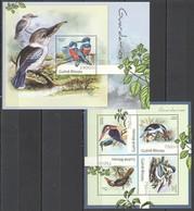 X908 2012 GUINE GUINEA-BISSAU FAUNA BIRDS GUARDA-RIOS KB+BL MNH - Vögel