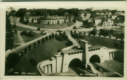 BRAZIL - SAO PAULO - PANORAMA DO TRIANON - PHOTO POSTAL COLOMBO - RPPC POSTCARD 1940s (BG1836) - São Paulo