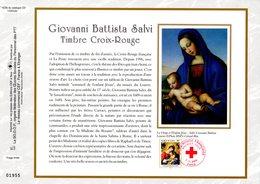 """"""" CROIX-ROUGE 2002 :  LE SOMMEIL DE L'ENFANT JESUS """" Sur Feuillet CEF N°té En SOIE N° 1628s N° YT 3531 Parfait état FDC - Croix-Rouge"""