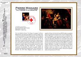 """"""" CROIX-ROUGE 2003 :  LA VIERGE A LA GRAPPE / MIGNARD """" Sur Feuillet CEF N°té En SOIE N° 1680s N° YT 3620 Parf état FDC - Croix-Rouge"""