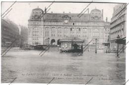 CPA PARIS Inondé : Cliché Du 28 Janvier 1910 - La Gare St-Lazare - Cour De Rome - Inondations De 1910