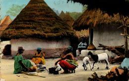 Afrique Noire - Préparation Du Repas - Postcards