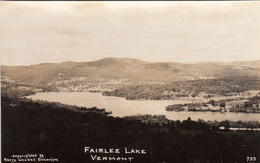 Real Photo RPPC - Vintage - Lake Fairlee Vermont - Excellent Condition - Year 1948 (?) - 2 Scans - United States