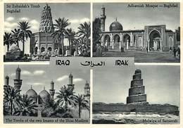 Gd Format :environ 15cms X10cms -ref Y243- Irak -iraq Carte Multivues  - - Iraq