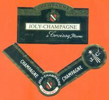 étiquette + Collerette De Champagne Brut  Joly Champagne à Troissy - 75 Cl - Champagne