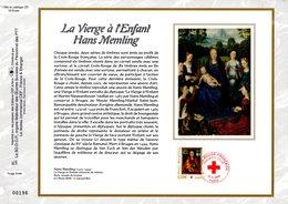 """"""" CROIX-ROUGE 2005 :  LA VIERGE A L'ENFANT De MEMLING """" Sur Feuillet CEF N°té En SOIE N° 1796s N°YT 3840 Parf état FDC - Croix-Rouge"""