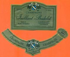 étiquette + Collerette De Champagne Brut Taillant Badelet à Torvilliers - 75 Cl - Champagne