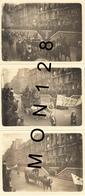 PARIS - DEFILE A IDENTIFIER - DILIGENCE CAROSSE CHARIOT GARDE REPUBLICAINE - 3 PHOTOS  9x12 Cms - Lieux