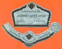 étiquette + Collerette De Champagne Brut Joannès Lioté Et Fils à Mardeuil - 75 Cl - Champagne