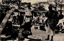 Marché En Afrique Noire - Postcards
