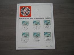 """BELG.1971 1580 FDC Filatalia Card/Filatelistische Kaart """"  3e Werelddag Der Telecommunicaties """" - Erinnerungskarten"""