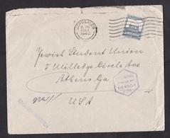 Palestine: Cover To USA, 1942, 1 Stamp, Censored, Censor Mark, From Hospital Jerusalem (damaged, See Scan) - Palestina