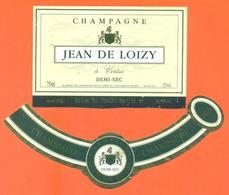 étiquette + Collerette De Champagne Brut Jean De Loizy à Vertus - 75 Cl - Champagne