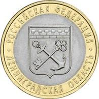 Russia,  Leningrad Region 2005, 10 Rbl Rubels Rubles Bi-metallic - Russia