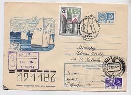MAIL Post Stationery Cover Used USSR RUSSIA Sport Regatta Tallinn Estonia Baltic - 1923-1991 UdSSR