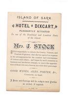 "PETIT CARTON PUBLICITAIRE HOTEL ""DIXCART"" ISLAND OF SARK -  (Ile De Sark) Carte Géographique - - Cartes De Visite"