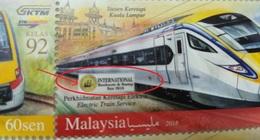 Malaysia 2018 Rare  Setenant Strip Set Electric Train ETS Overprint Opt International Penang Fair BMF MNH From Sheet 5 - Malaysia (1964-...)