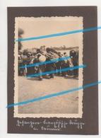 WW2 Soldats Coloniaux Français Avec Barda à SAUMUR Maine Et Loire ! - 1939-45