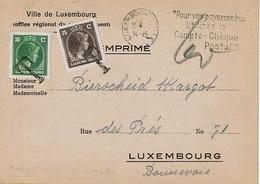 """C.P. Envoyé De LUXEMBOURG (22-4-45) à LUXEMBOURG (Bonnevoie) - Concerne Ravitaillement """"Chaussures"""" - Luxembourg"""