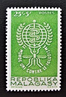 ERADICATION DU PALUDISME 1962 - NEUF  ** - YT 364 - MI 477 - Madagascar (1960-...)