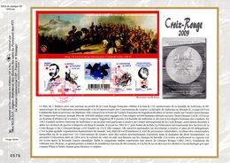 """"""" 2009 : 150 ANS DE LA CROIX-ROUGE / HENRI DUNANT  """" Sur Feuillet CEF N°té En SOIE N° 2023s N° YT F4386 Parfait état FDC - Croix-Rouge"""