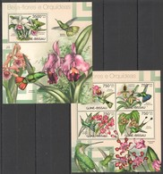 X932 2012 GUINE GUINEA-BISSAU NATURE FLOWERS ORCHIDS KB+BL MNH - Orchideen