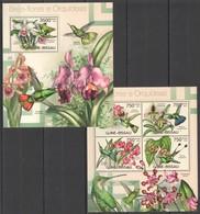 X932 2012 GUINE GUINEA-BISSAU NATURE FLOWERS ORCHIDS KB+BL MNH - Orchidées