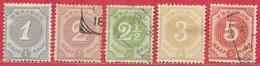Curaçao N°13 à 17 1889 - Curaçao, Antilles Neérlandaises, Aruba