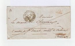 Sur Pli CAD Clermont Ferrand 62 Juillet 1939. Cachet PP Rouge. Cachets Lyon Et Tain 25. (964) - 1801-1848: Précurseurs XIX