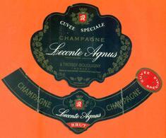étiquette + Collerette De Champagne Brut Cuvée Spéciale Leconte Agnus à Troissy Bouquigny - 75 Cl - Champagne