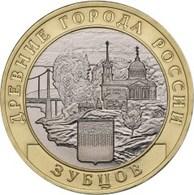 Russia, Zubtsov, 2016 10 Rbl Rubels Rubles Bi-metallic Uncirculated - Russland
