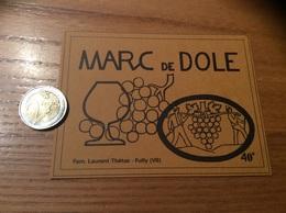 Etiquette Vin Suisse « MARC DE DÔLE - Fam. Laurent Thétaz - Fully (VS)» - Blancs
