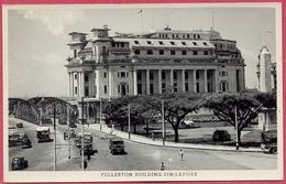 FULLERTON Building & ANDERSON Bridge +/-1930s Singapore (UNC) Photo Gevaerq Postcard_S'pore-cpa Collection - Singapore