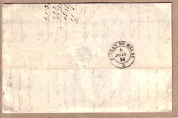 SAVOIE - LETTRE DE CHAMBERY POUR SAINT JEAN DE MAURIENNE , CAD SARDE ST JEAN DE MAURIENNE - 1851 - 1849-1876: Classic Period