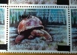 TANZANIA, 2018, MNH, FAUNA,REPTILES, TURTLES, TORTOISES, 1v OVERPRINT - Turtles