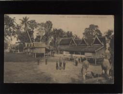 Ex-cambodge Siem-reap Bonzerie édit. La Pagode ? N° 1795 Village Animée - Cambodia