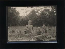 Cambodge Angkor-thom Cliché Format 9 X 12 Cms La Statue Du Roi Lépreux - Cambodia