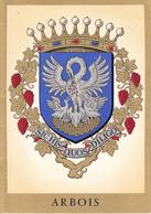 39 ARBOIS  - BLASON AVEC HERALDIQUE ET PETIT HISTORIQUE / CARTE DOUBLE - Arbois