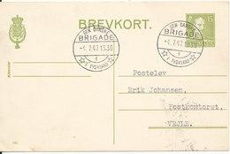 """Denmark Lettercard """"Den Danske BRIGADE I Tyskland"""" Sent To Denmark 4-7-1947 - 1913-47 (Christian X)"""