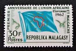 UNION AFRICAINE ET MALGACHE 1962 - NEUF ** - YT 370 - MI 485 - Madagascar (1960-...)