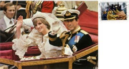 UNITED KINDOM  Marriage Of Princess Diana And Charles  Nice Stamp - Case Reali
