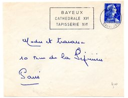 CALVADOS - Dépt N° 14 = BAYEUX 1958 = FLAMME SECAP  ' TAPISSERIE CATHEDRALE ' - Postmark Collection (Covers)