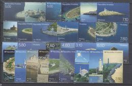 Croatia 2007/2015 Lighthouses/Islands Scenes Complete Series In 9 Sets/28 Stamps In Total MNH - Croatia