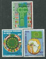 Bénin  N° 451 / 53 X   Sommet De L'O.C.A.M. Les 4 Valeurs Surchargées  Trace De Charnière Sinon TB - Bénin – Dahomey (1960-...)