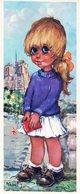 MICHEL THOMAS - LES PETITS - FILLE PARIS NOTRE DAME - 9x21 Cm - FAÇON POULBOT - Thomas