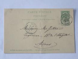 Entier Postal Envoyé De Souvret Vers Mons Le 07 Mars 1902 .... Lot7 . - Entiers Postaux