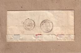 YONNE - LETTRE DE VILLENEUVE SUR YONNE POUR MONETEAU , CAD D' ARRIVEE TYPE 22 MONETEAU + TAXE TAMPON 30 CENTIMES - 1861 - 1849-1876: Classic Period