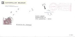 """Taxierter Brief  """"Caterpillar, Gosselies"""" - Langenthal          1985 - Cartas"""