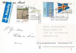 Aland 2001 Eckerö Stone Field Flag Sailing Ship Viewcard - Aland